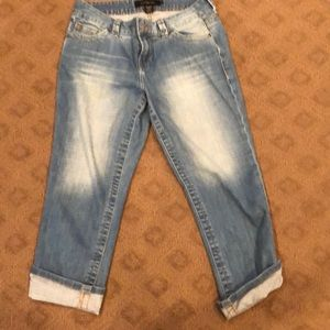 Calvin Klein Cropped Jeans with Cuffs